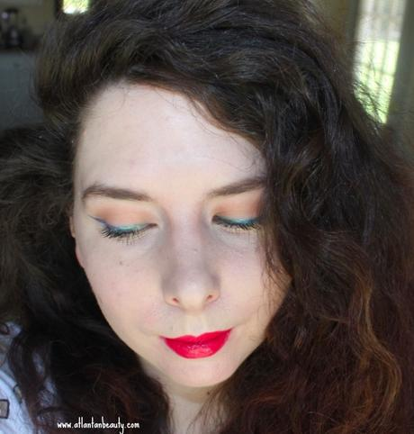 Spring FOTD With Holographic Liner and Bold Lips
