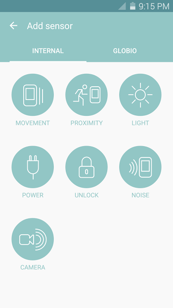 globio Alarm System- screenshot