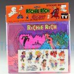 Richie Rich and Casper Sticker Board, Richie Rich haunted mine variant front view