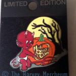 Pop Culture Trading Pin Co. Mid-Ohio Con exclusive Hot Stuff pin front view.