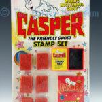 Casper Stamp Set front view including backing card