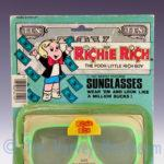 Richie Rich Sunglasses front view including backing card