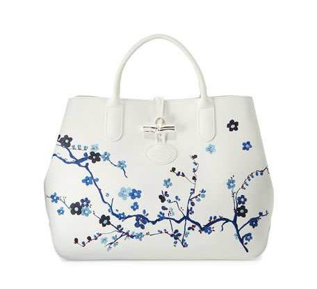Longchamp Sakura print tote, included in weekend sales