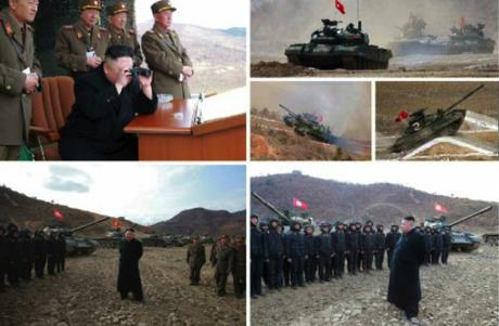 Kim Jong Un Observes and Guides KPA 2017 Tank Competition