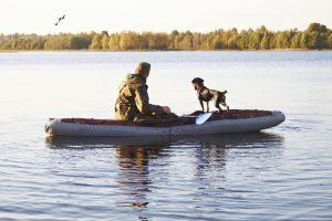 Small Boat Duck Hunting Dogs