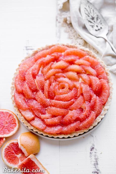 Grapefruit Tart (Gluten Free + Paleo)