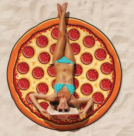 Gigantic Pizza Beach Towel Blanket
