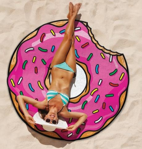 Gigantic Donut Beach Towel Blanket