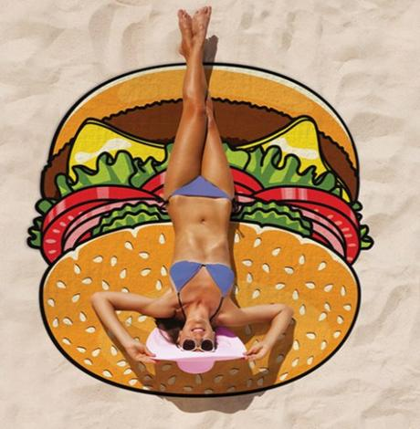 Gigantic Burger Beach Blanket