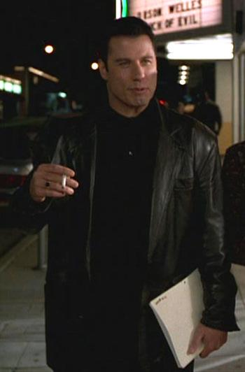 Chili's Black Leather Jacket in Get Shorty