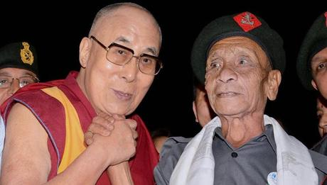 nostalgic emotional reunion of Dalai Lama with Assam Rifles guard after 58 years !