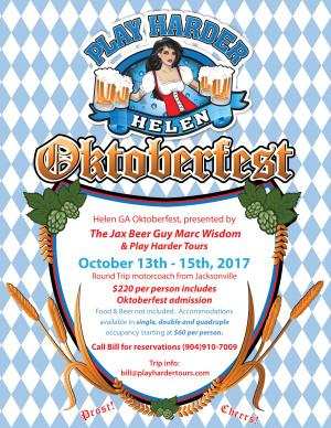 Jax Beer Guy teams up with Play Harder Tours for Helen, Ga. Oktoberfest package
