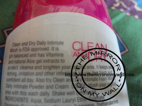 Clean and Dry Feminine Wash Review