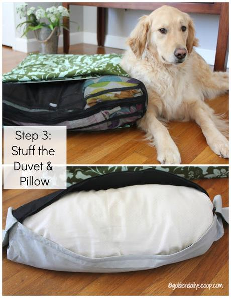 how to stuff your molly mutt duvet and pillow to make a dog bed