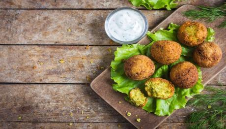 Falafel is another of the middle eastern foods served with tzatziki sauce