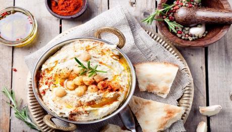 Hummus is chickpea-garlic-lemon dip eaten with bread