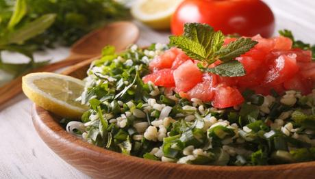 Tabouleh, or tabouli, is a wheat-and-parsley pilaf. Celiacs beware!