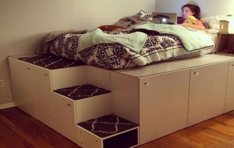 14+ Best Ideas About DIY Platform Bed With Storage