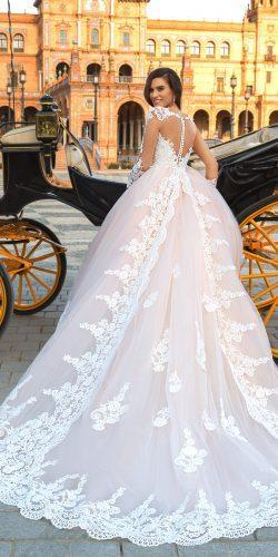 crystal design 2017 wedding dresses collection lace ballgown bridal dress with low back leda