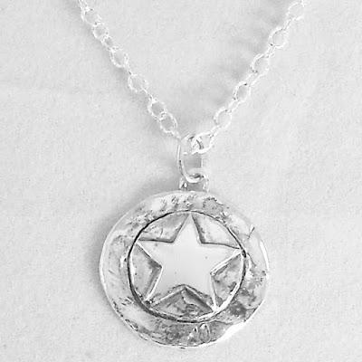 Texas Star Banded Pendant on Sterling Silver Chain The Te...