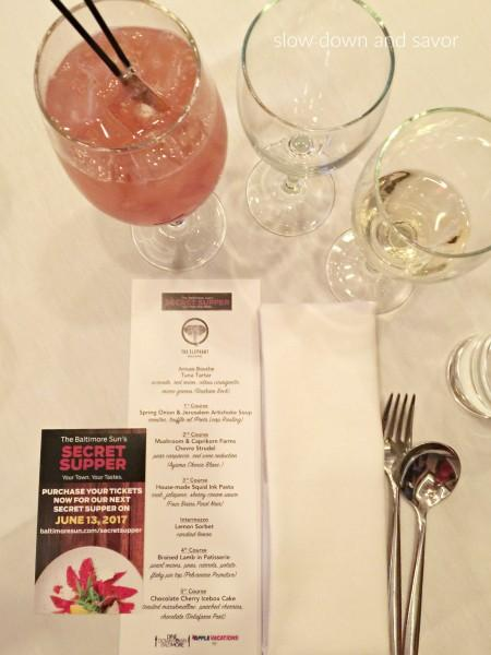 The Baltimore Sun's Secret Supper at The Elephant