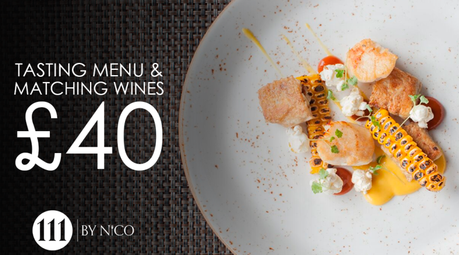 Six course tasting menu and matching wine £40 at 111 by Nico