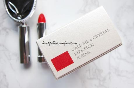 Review: Bisous Bisous Call Me A crystal Rouge Cream Lipstick