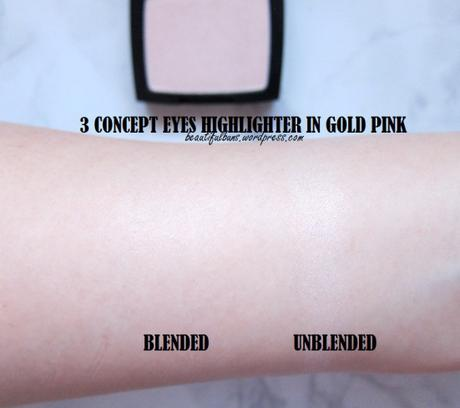 Review: 3CE Highlighter in Gold Pink