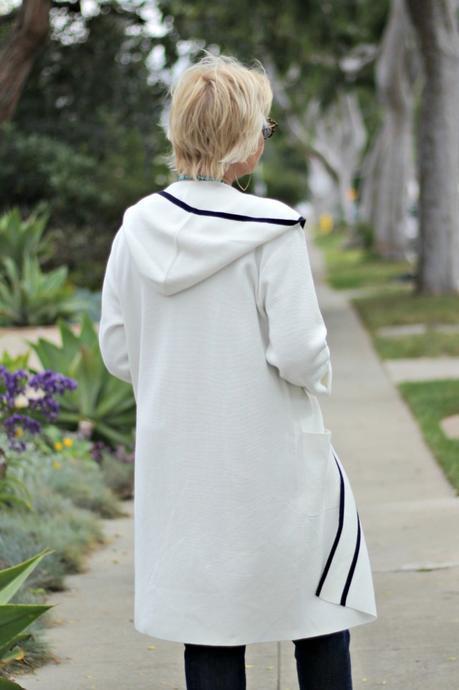 Winser London hooded knit coat