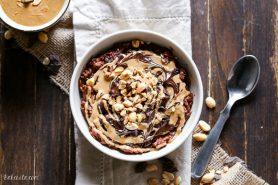 Chocolate Peanut Butter Oatmeal (Gluten Free, Refined Sugar Free + Vegan)