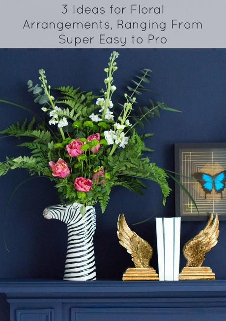 He is such a handsome chap this zebra vase that he doesn't even need flowers to make a statement, but he certainly creates real wow factor when filled with floral loveliness. To give you some tips for flower arranging in the zebra vase we have styled him in 3 different ways so you can see how different he looks.