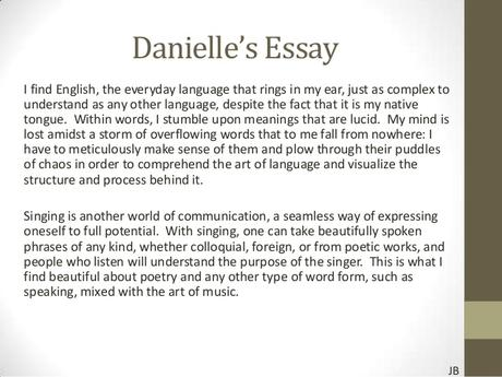 essay about my generation