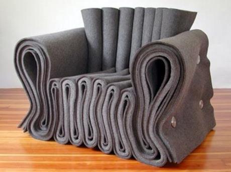 Folded Fabric Armchair