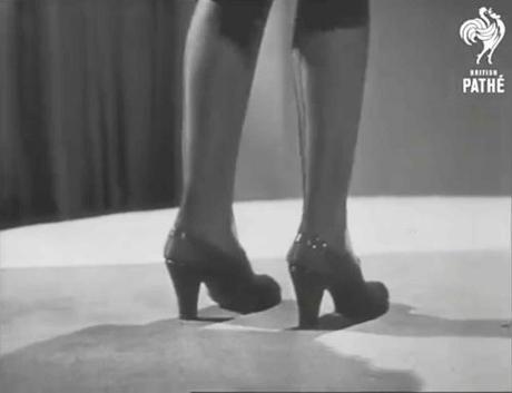 1940s post war shoe fashions