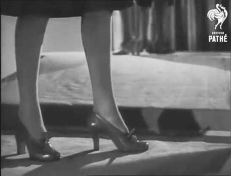 1940s post war shoe fashion