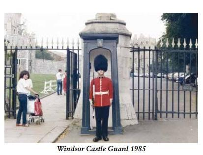 Alan Barry. Salesman with an AK47. Windsor Castle Guard