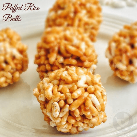 Puffed Rice Balls Recipe for Toddlers and Kids