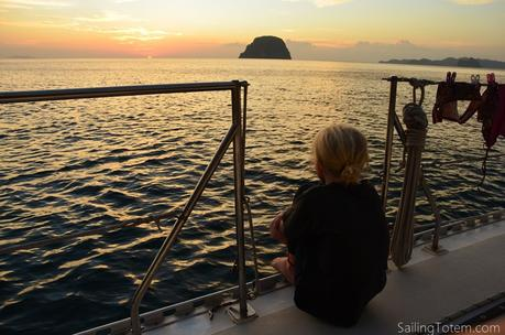 Siobhan watches sunset in Thailand