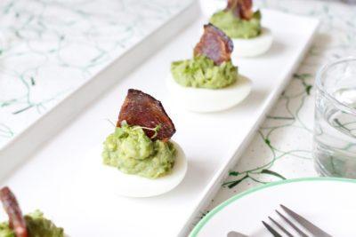 Avocado Eggs with Bacon Sails