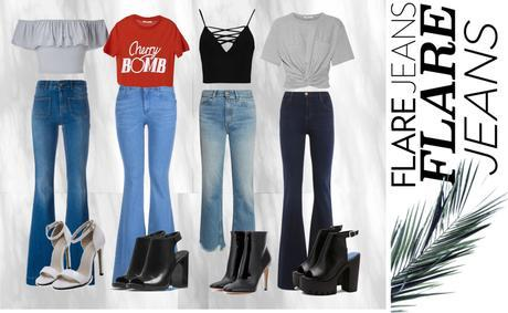WEEKLY OUTFIT GRID: FLARE AWAY