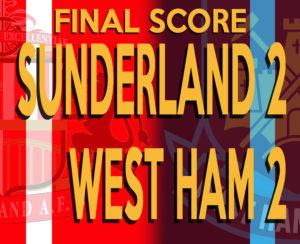 Sixer's Sevens: SAFC 2-2 West Ham. Welcome fight too little, too late