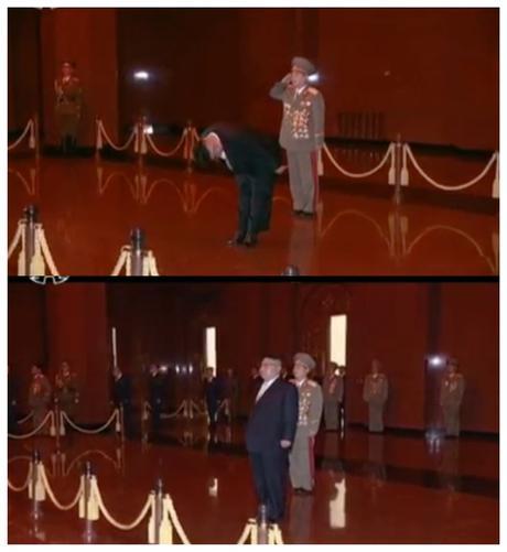 Kim Jong Un Visits Ku'msusan on Sun's Day