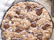Oatmeal Chocolate Chip Skillet Cookie (Gluten Free Vegan)