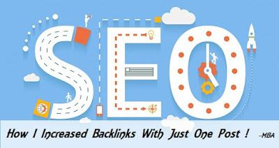 How I Increased My Backlinks With Just One Post !