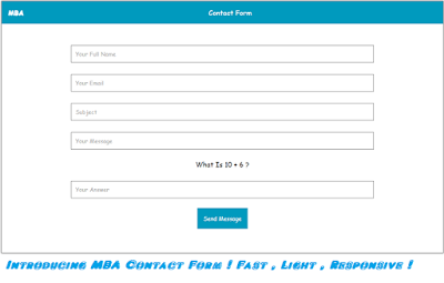 Introducing MBA Contact Form For Bloggers !