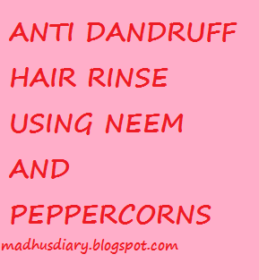 anti dandruff hair rinse