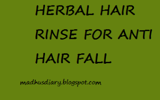 anti hair fall hair rinse