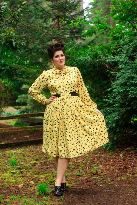 eShakti Swallow dress, 1940's hair, and a transformation