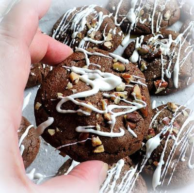 Caramel Stuffed Chocolate Cookies