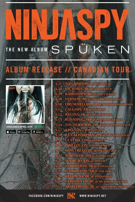 Idioteq Album Premiere Metal-Reggae Fusion NINJASPY 'Spüken' + Canada Tour